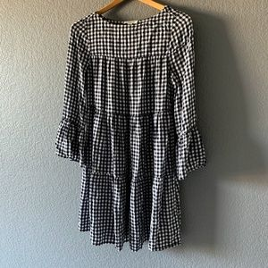 BeachLunchLounge Gingham Bell Sleeve Dress Sz XS